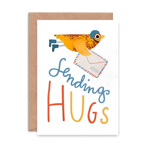Sending Hugs Greeting Card