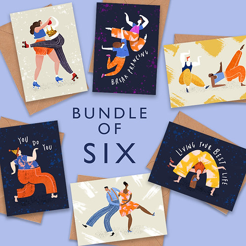 Pulling Shapes Greeting Cards- Bundle of 6