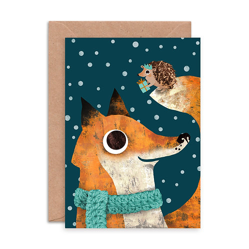 Fox & Hedgehog Greetings Card