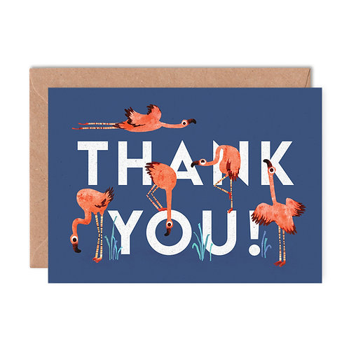 Thank You Flamingoes Greeting Card