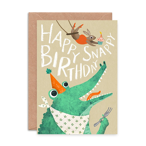 Snappy Birthday Crocodile Card