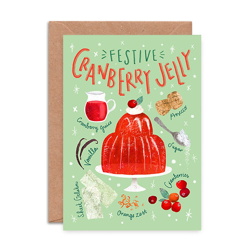 Cranberry Jelly Christmas Card