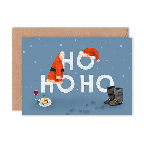 Ho Ho Ho Greetings Card