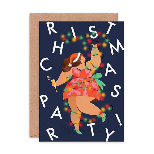 Christmas Party Dress Greeting Card