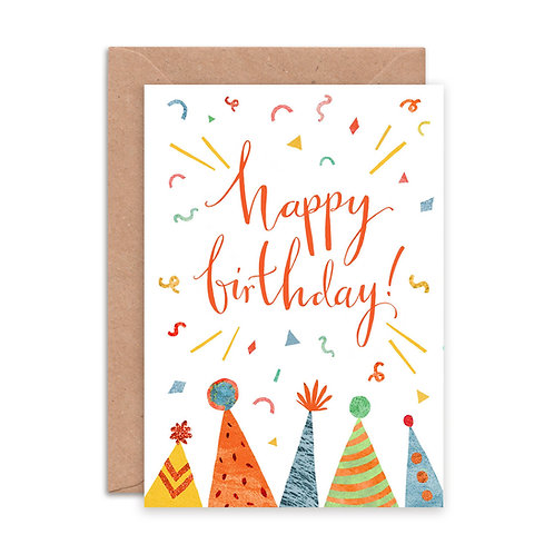 Happy Birthday Hats Greetings Card
