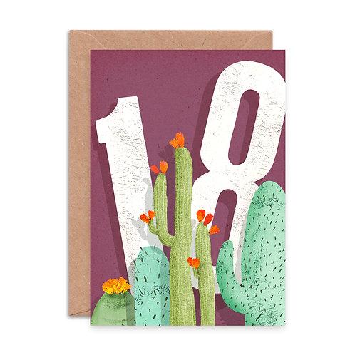 Cactus Eighteen Greetings Card