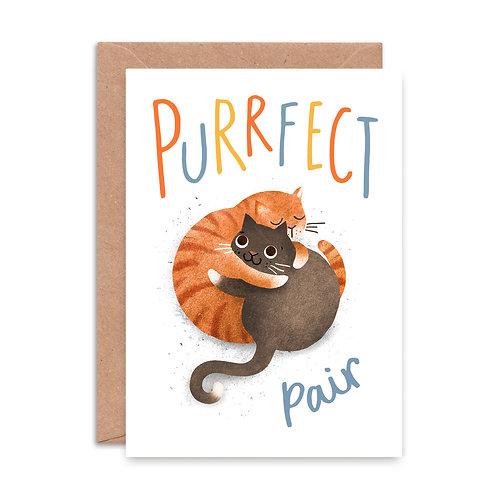 Purrrfect Pair Greeting Card