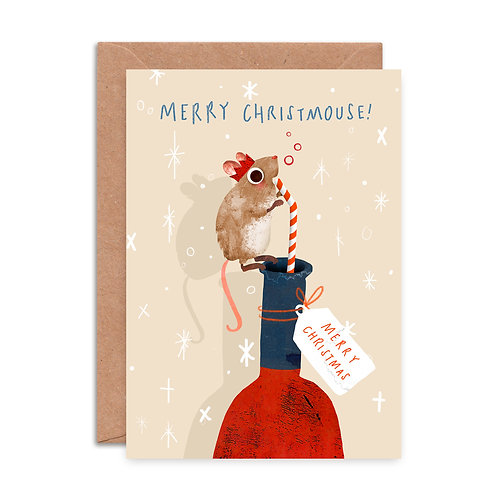 Whino Mouse Christmas Card