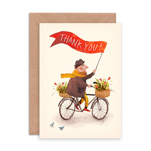 Thank you Bicycle Greetings Card