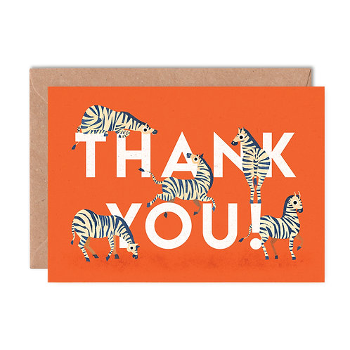 Thank You Zebras Greeting Card