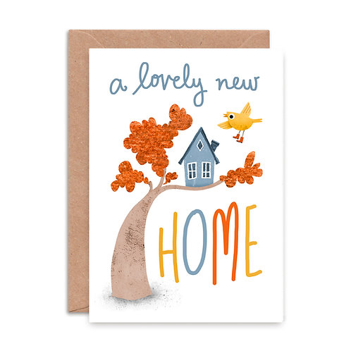 Lovely New Home Greeting Card