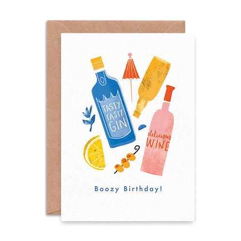 'Boozy Birthday' Greeting Card
