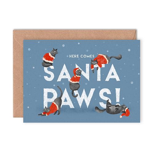 Santa Paws Greetings Card