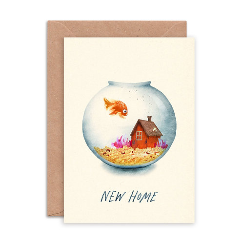 New Home Fish Greetings Card