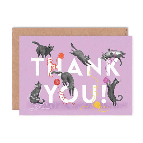Thank You Cats Greeting Card