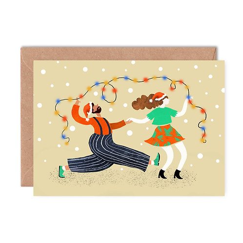 Lindy Hop Light Christmas Card