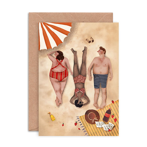 Sunbathers Greetings Card