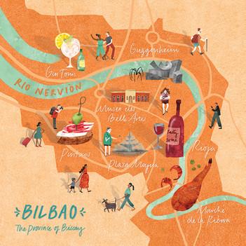 Map of Bilbao
