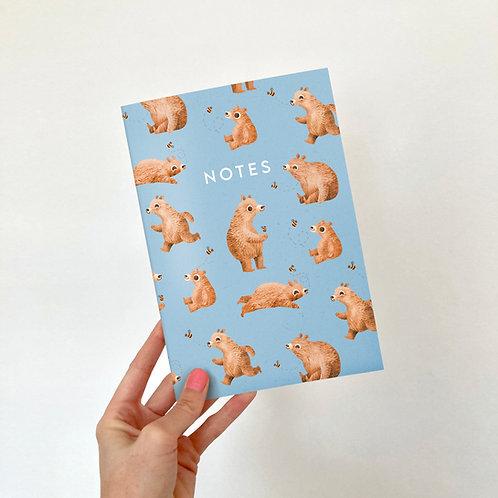 A5 Bear Notebook