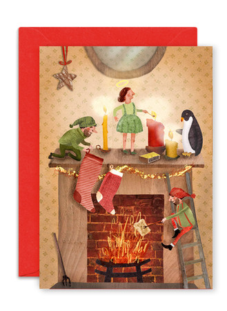 ENCHR003 Christmas Mantelpiece.jpg