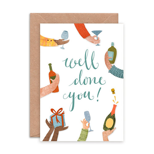 Well Done You Greetings Card