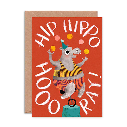 Hip Hippo Hooray Greeting Card