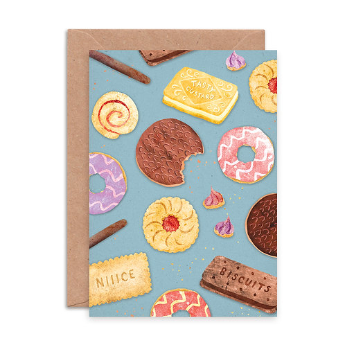 Biscuit Pattern Greetings Card