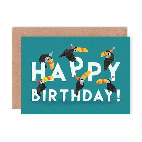 Birthday Toucans Greetings Card