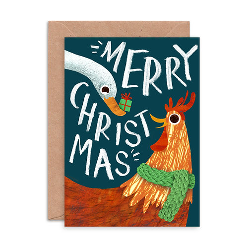 Chicken & Duck Greetings Card