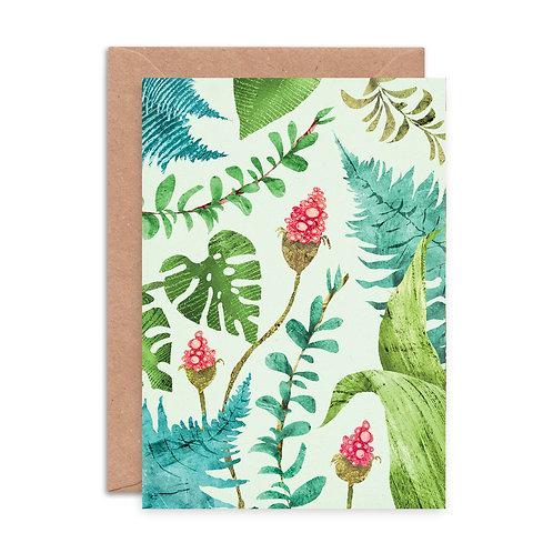 Plants Pattern Greetings Card