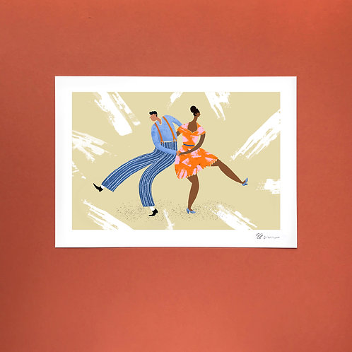 'Let's Boogie' A4 Art Print