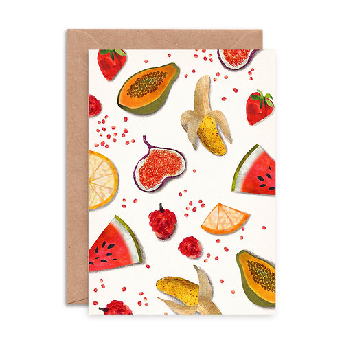 Fruit Pattern Greetings Card