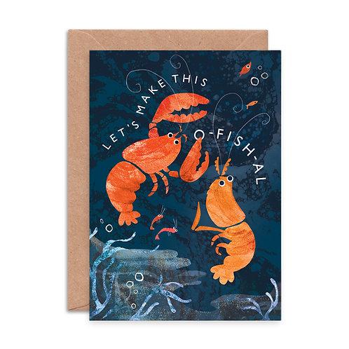 Let's Make This O-fish-al Greeting Card