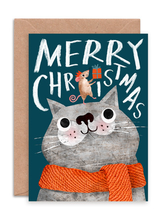ENCHR018 Christmas Cat & Mouse.jpg