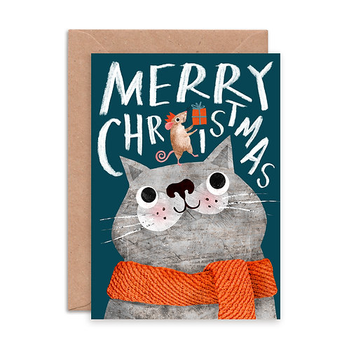Cat & Mouse Greetings Card