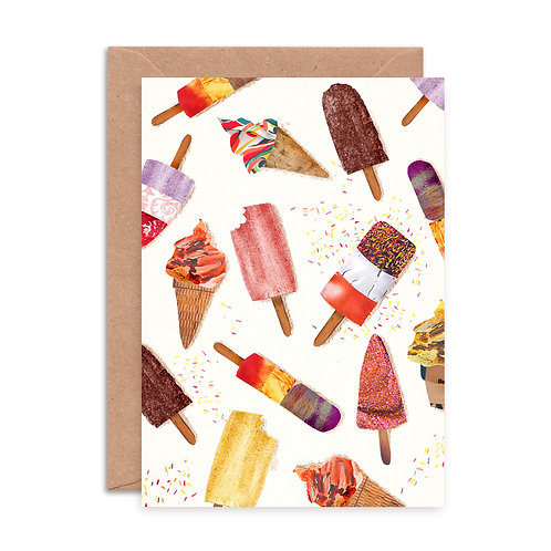 Ice Lollies Pattern Greetings Card