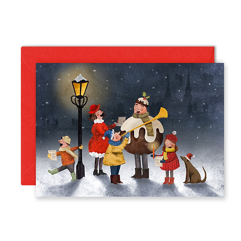 Carol Singers Greetings Card