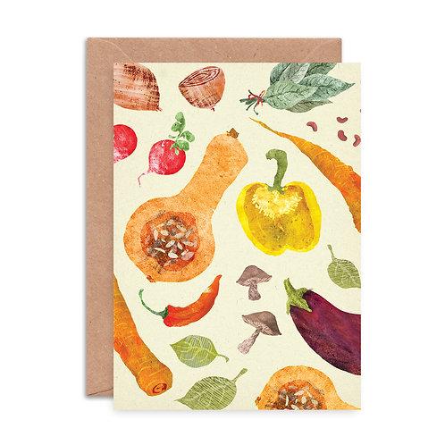 Vegetables Pattern Greetings Card