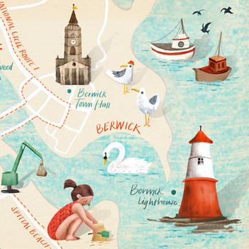 Map of Berwick-upon-Tweed