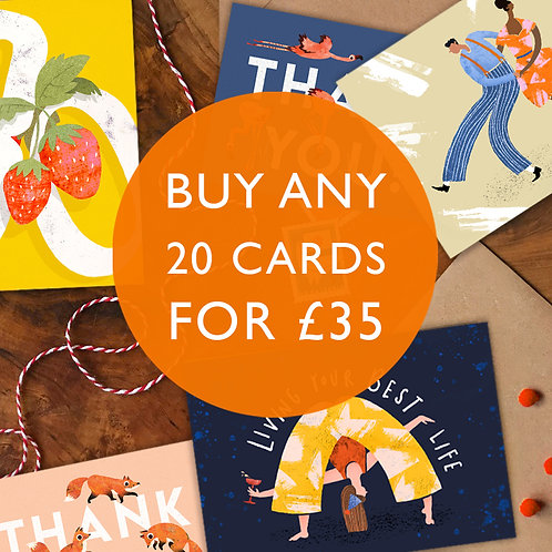 Mix & Match Card Bundle- Any 20 for £35