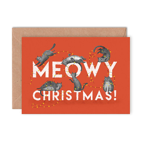 Meowy Christmas Greetings Card