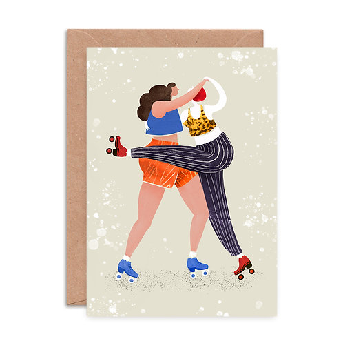 Roller Shapes Greeting Card