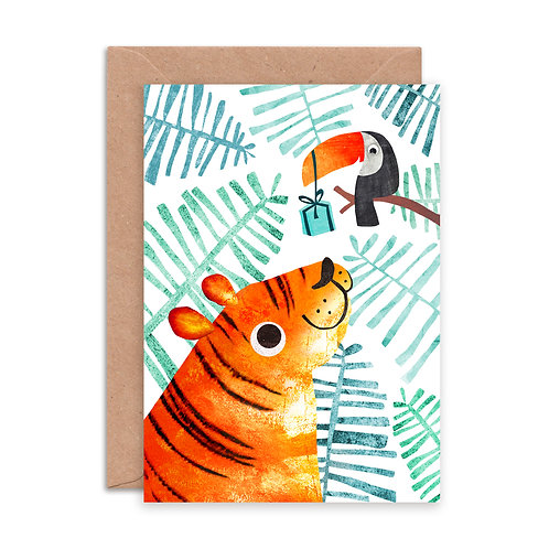 Tiger & Toucan Greetings Card