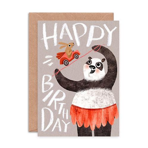 Happy Birthday Panda Greeting Card