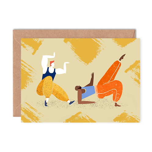 Pulling Shapes Greeting Card