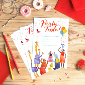 Party Animals Stationery