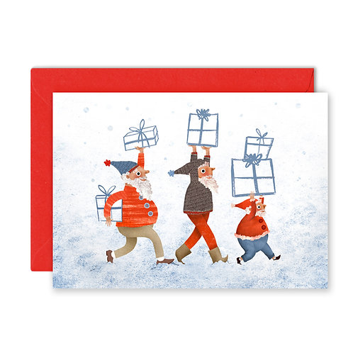 Christmas Elves Greetings Card