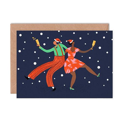 Christmas Boogie Greeting Card