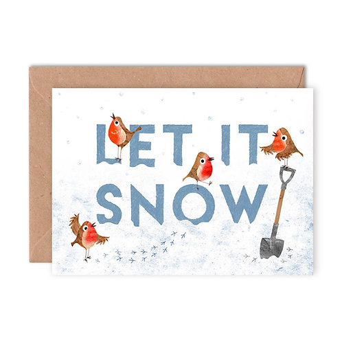 Let it Snow Greetings Card