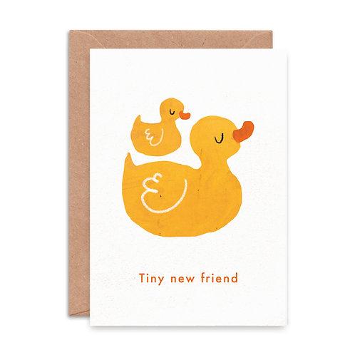'Tiny New Friend' Greeting Card